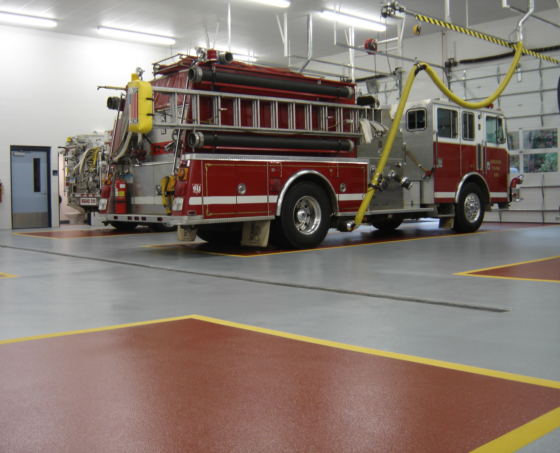 Epoxy flooring for Fire rescue and public safety facilities in CT