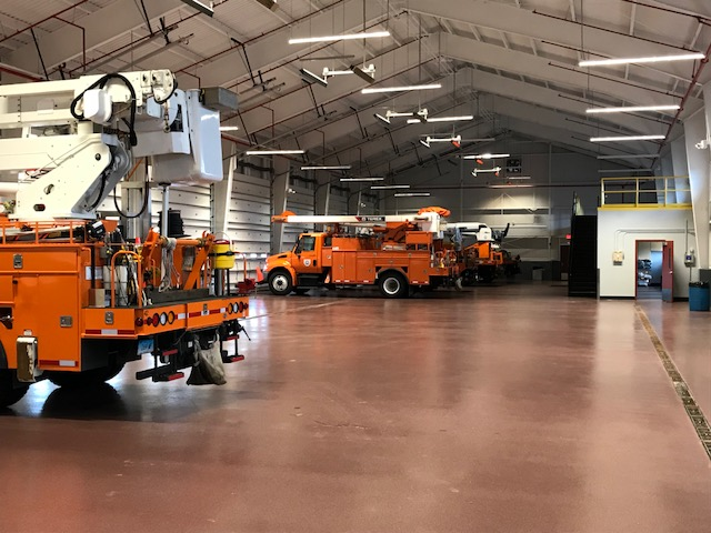 Seamless epoxy flooring for Fire rescue and public safety facilities in CT