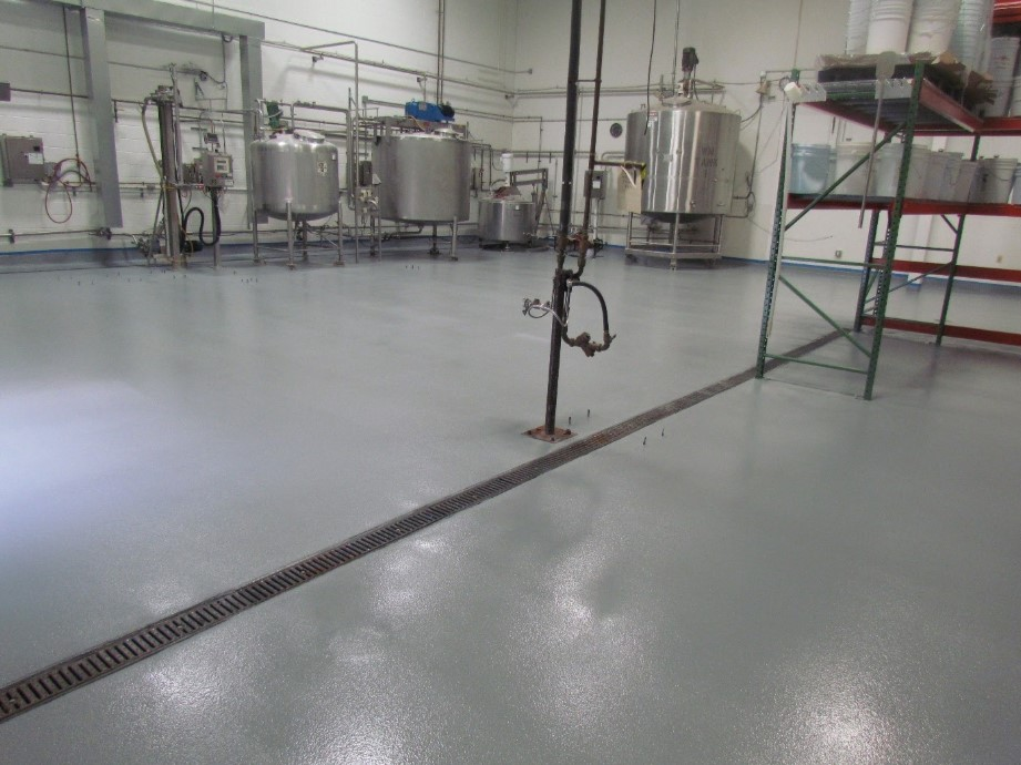 Epoxy flooring for food and beverage manufacturing in CT