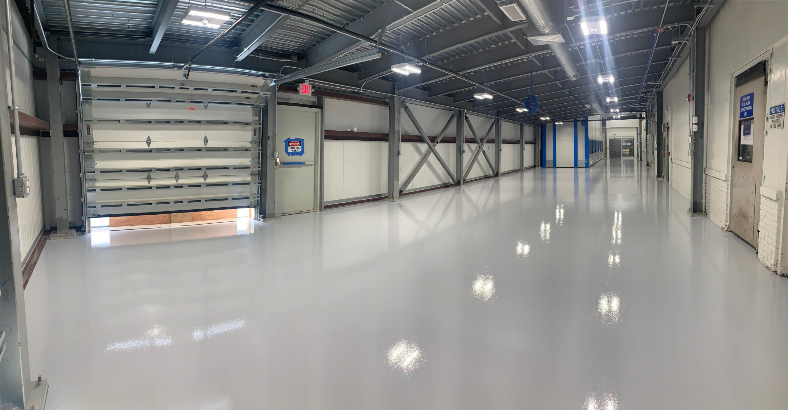 Seamless Epoxy flooring for manufacturing in CT