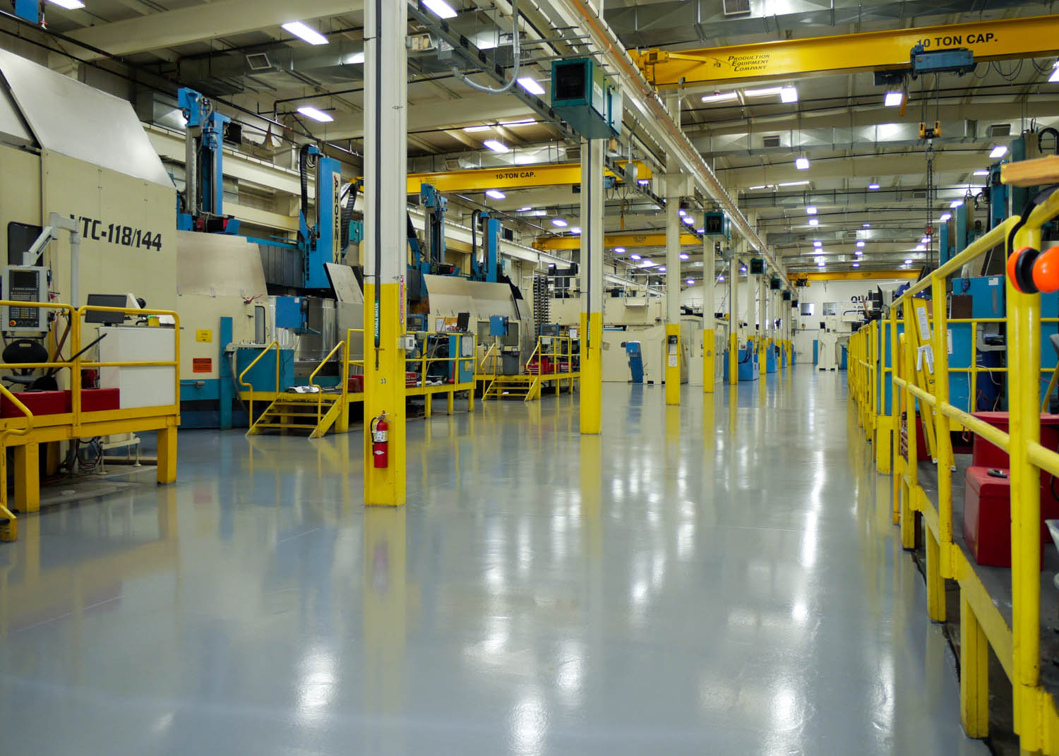 Epoxy flooring for manufacturing in CT
