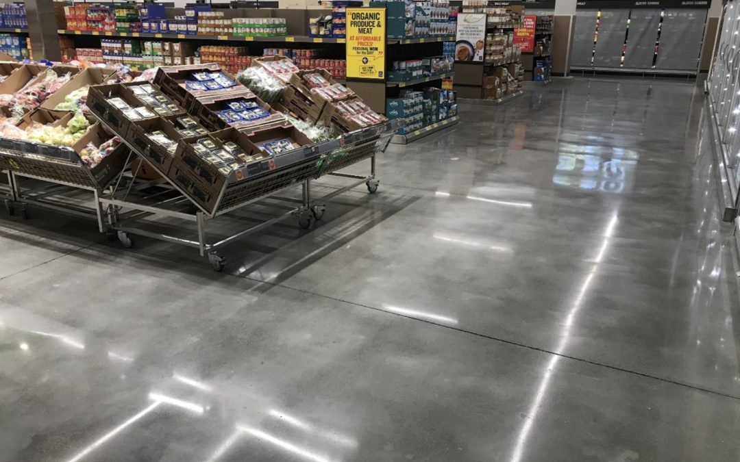 Polished concrete and epoxy flooring retail and grocery stores in CT
